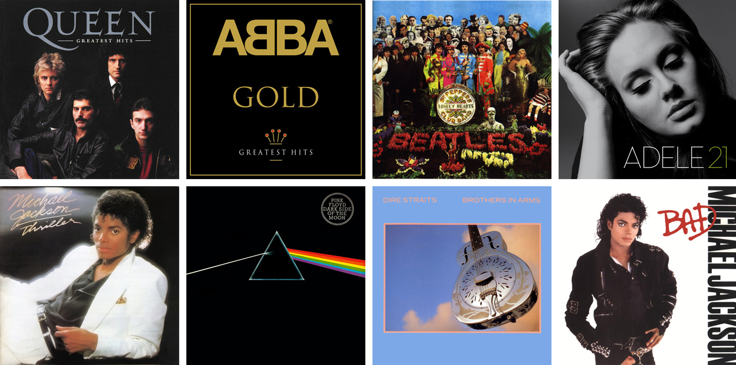 Top 10 biggest selling albums in UK history